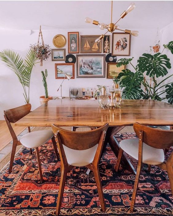 27 Charming Boho Dining Room Design Ideas