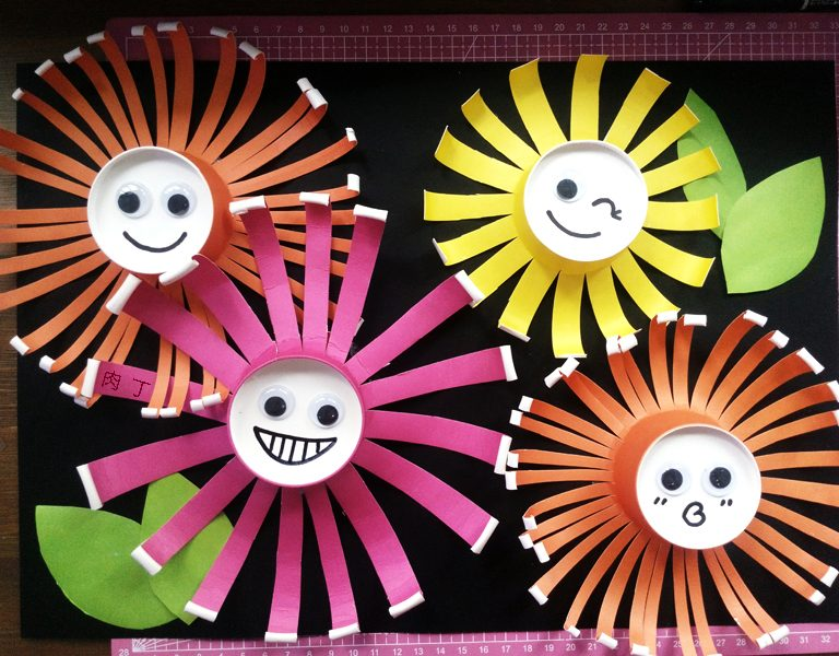 Sun Flower Painting Ideas with Paper Cup