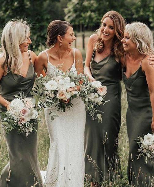 The choice of thoughtful long bridesmaid's clothes
